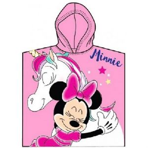 Disney Baby Minnie Mouse Unicorn Light Pink Poncho Towel